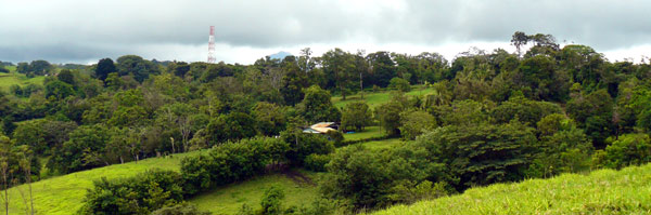 The finca retains much forest to enhance the wide vistas.