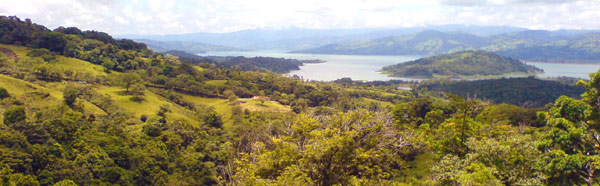 The 41-acre property has wide Lake Arenal views.