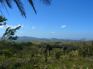 The south are miles of hills rolling toward Monteverde.