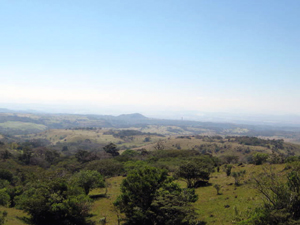 This view past some of the forest on the property looks toward the Guanacaste lowlands and the Pacific Coast.