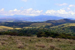 There are views of Lake Arenal from many places on the ranch.