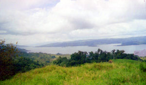 From the acreage there is a great view down the 24-mile-long Lake Arenal.