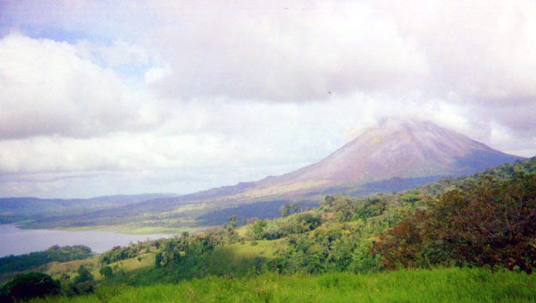 This finca has beautiful and exciting views of Arenal Volcano.