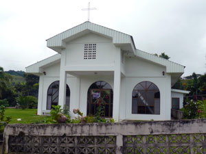 The church in Cerro de San Jose.