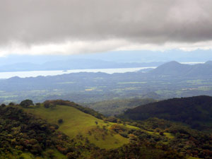 The Gulf of Nicoya can be seen clearly from the farm.