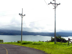 The paved Sabalito/Tierras Morenas road leads to the property.