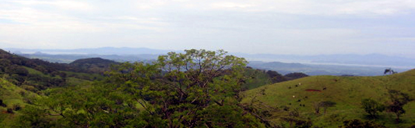 The 20-acre property provides beautiful wide views over the whole of the Gulf of Nicoya.
