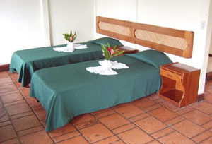 The spaciou room can accomodate up to 4 guests each.