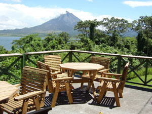 The lodge is sited and designed to take advantage of the great views to Arenal Volcano, just a couple of miles away.