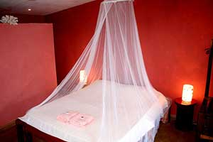 The Tobasco Room is one of six private rooms with baths.