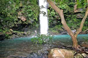 Rincon de la Vieja National Park contains beautiful cool water streams and waterfalls.