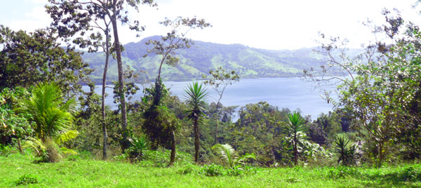 The long house site has really good views of Lake Arenal.