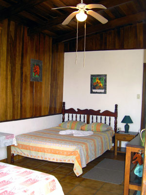 The rooms in the cabina are large and modern.