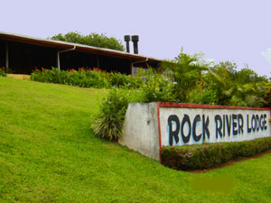 The Rock River Lodge sign below the lodge