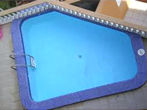 The bulding's roof-top swimming pool.