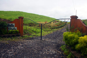 one of the two entrance gates to the development.