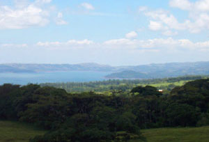 Someof the lots have great views of lake Arenal.