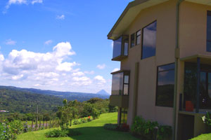 The house has a view of Arenal Volcano and 360 degrees of lake and territorial views.