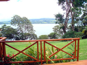 This view shows the proximity of the lake from the deck.