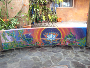 Murals by a professional artist enhance the rancho experience.