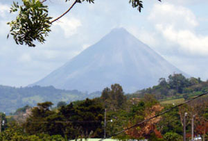 Arenal Volcano is a great sight from the front yard of this well located property.