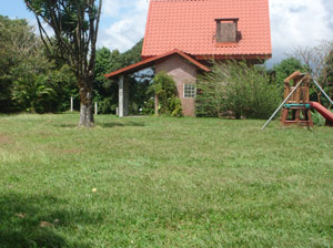 The cottage is very privately located in the midst of sweeping lawns.