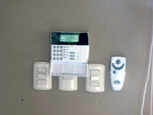 A central alarm system protects the home.