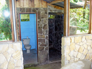 The rancho contains a toilet and shower for campers.