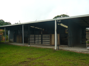 The excellent horse barn is on a knoll with the exercize ring.