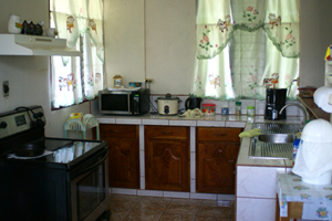 The kitchen is typical and could be extended.