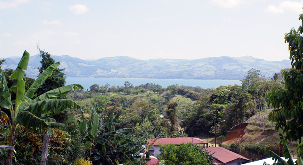 Here is a wide swath of Lake Arenal as seen from this home.