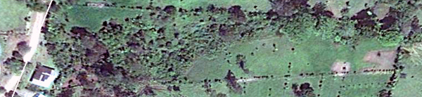 The Google image shows the property from the house on the Chimurria road at left down to the pastered far end in the gently sloping valley.