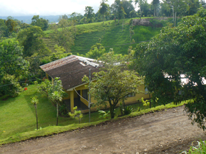 The house as seen from a home across the Chimurria road.