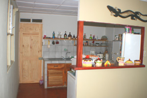 The Tico-style kitchen has been updated.