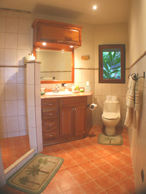The bathrooms are creatively and lavishly fitted into the octagonal design.