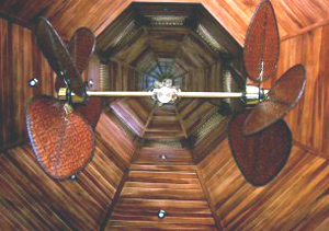The cathedral ceiling is of beautiful Costa Rican hardwoods.