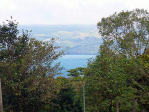 Lake Arenal is part of the house vista.