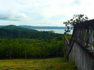 This photo from beside the northern neighbor's wall shows a fine view of the lake.