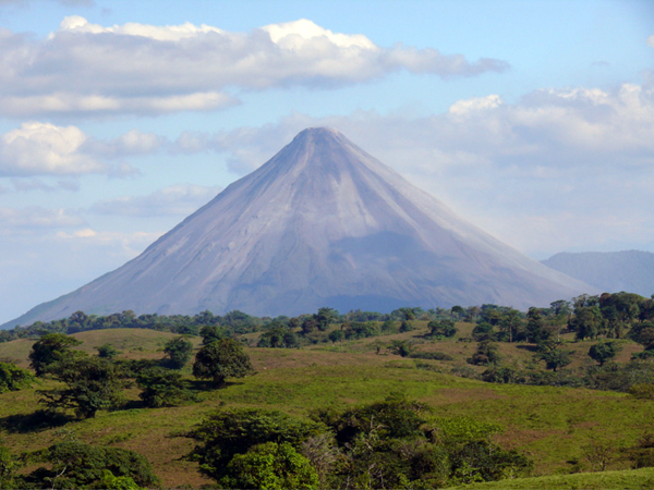 The home, like other homes and lots in Bella Vista, has a truly spectacular view of Arenal Volcano.