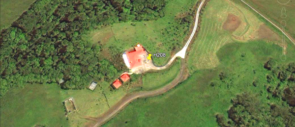 The home and other buildings as seen by Google Earth satellite photo.