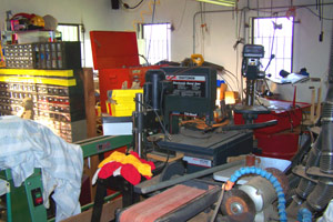 The workshop has an incredible array of equipment.