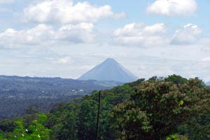 Arenal Volcano as seen from near Aguacate