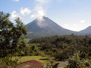 La Union, near the east end of the lake, has great views of the Arenal Volcano.