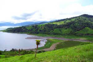 The river, Rio Chiquito, empties into Lake Arenal a 20-minute boat trip from the dam