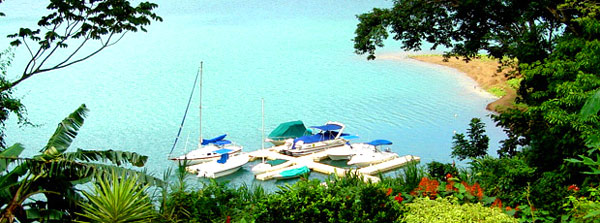The marina at the Lake Arenal gated community