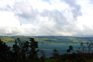 Lake Arenal as seen from this lot.