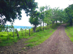 The Tronadora to Silencio and Tilaran road goes past this lakeview property.
