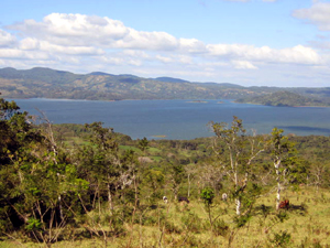 This view east has a great view of Lake Arenal and Santa Elena Island.