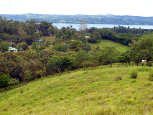 At the top of the property the views include Lake Arenal.