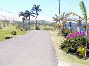 The top of the lot is conveniently located beside the paved lake road between San Luis and Tronadora.